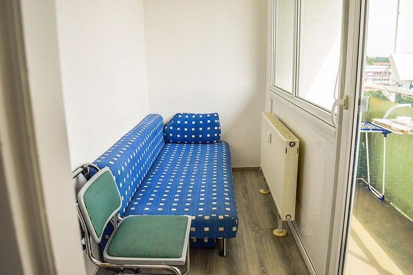 Pension M14 Monteurwohnung Ferienwohnungen Lößnig Balkon