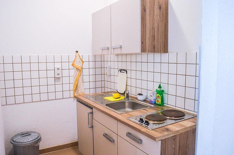 Pension M14 Monteurwohnung Lößnig Küche