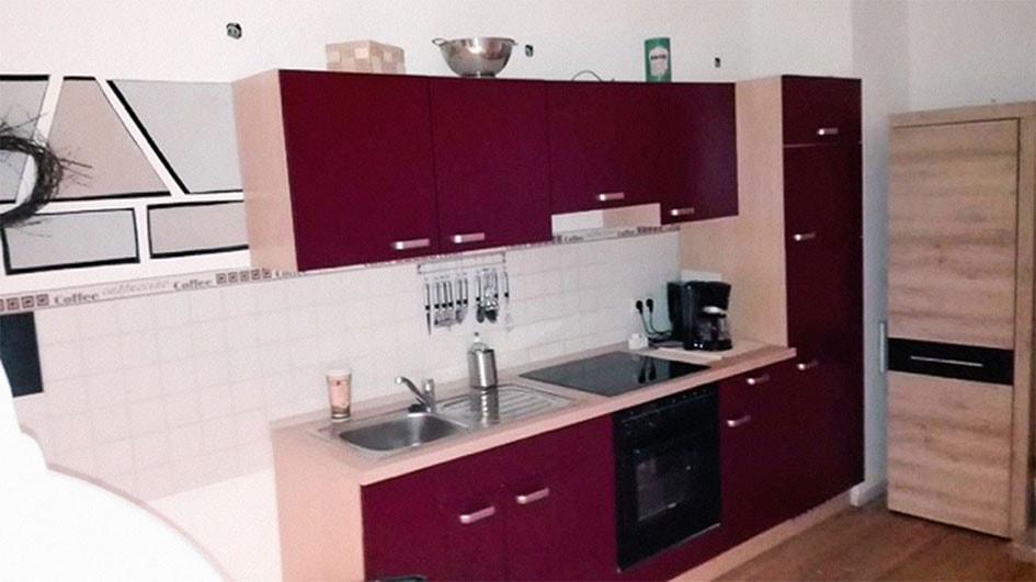 Pension M14 Wohnung auf Zeit Küche